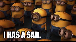 minion sad